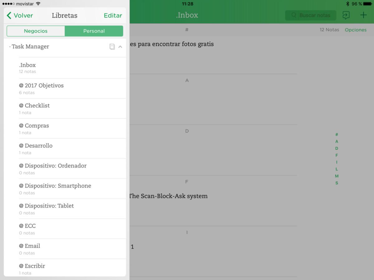 Evernote IOS · GTD
